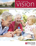 Image of Fox Chase Cancer Center's planned giving newsletter, Fox Chase Vision